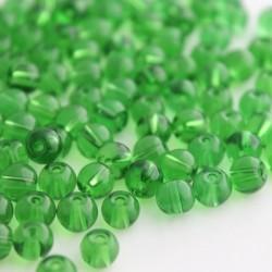6mm Round Glass Beads - Green