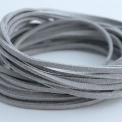 3mm Faux Suede Cord - Grey