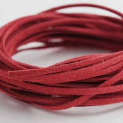 3mm Faux Suede Cord - Red