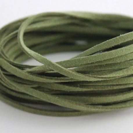 3mm Faux Suede Cord - Sage Green