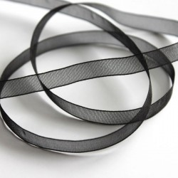 6mm Organza Ribbon - Black