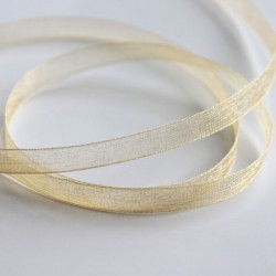 6mm Organza Ribbon - Dark Cream - 10 metres