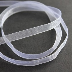 6mm Organza Ribbon - White