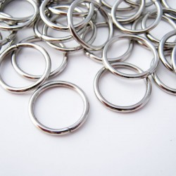 12mm Silver Tone Jump Rings