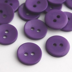 15mm 2 Hole Resin Buttons - Purple