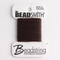 Beadsmith Beadstring Size 2 - Brown
