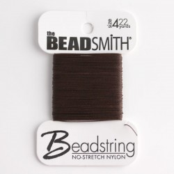 Beadsmith Beadstring Size 4 - Brown