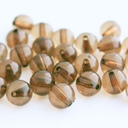 10mm Round Acrylic Beads - Brown