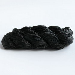 1mm Braided Nylon Cord - Black