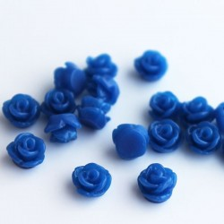 Tiny Resin Flower Cabochon - Blue