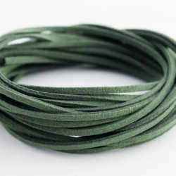 3mm Faux Suede Cord - Dark Moss Green