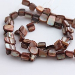 Shell Nugget Beads 8mm - Light Brown