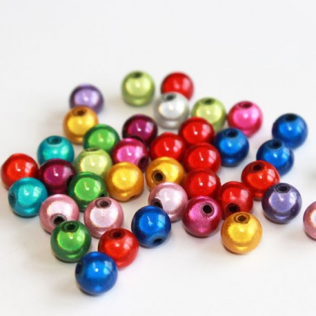8mm Round Miracle Beads - Mixed Colours