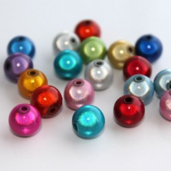 10mm Round Miracle Beads - Mixed Colours