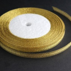 6mm Organza Ribbon - Gold - 22 metres