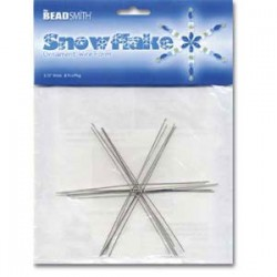 Beadsmith Snowflake Ornament Wire Form - 3.75""