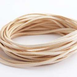 3mm Faux Suede Cord - Cream