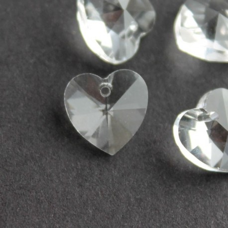 10mm Crystal Glass Heart - Clear