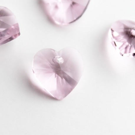 10mm Pink Crystal Glass Heart