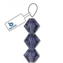 Preciosa Crystal 4mm Bicone Beads - Tanzanite