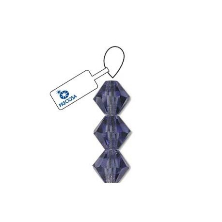 Preciosa Crystal 4mm Bicone Beads - Tanzanite