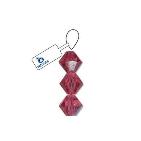 Preciosa Crystal 4mm Bicone Beads - Rose AB