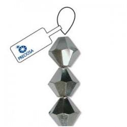 Preciosa 6mm Bicone Beads - Crystal Half Labrador - Pack of 21