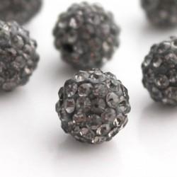 Grey 10mm Shamballa Style Bead