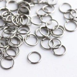 7mm Silver Tone Jump Rings