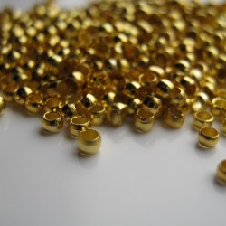 2mm Gold Plated Crimp Beads