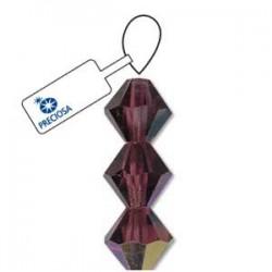 Preciosa Crystal 4mm Bicone Beads - Amethyst AB