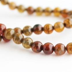 6mm Dragon Vein Agate Round Beads