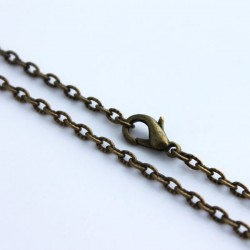 Bronze Tone Finished Textured Necklace Chain 18""