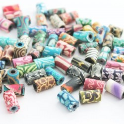 11mm Tube Polymer Clay Beads
