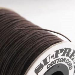 1mm Premium Waxed Cotton Cord - Brown - per metre