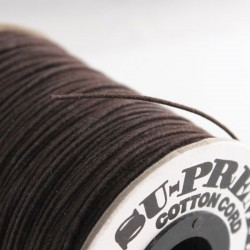 1mm Premium Waxed Cotton Cord - Brown