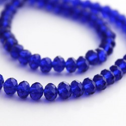 4mm x 6mm Crystal Rondelle Beads - Cobalt Blue