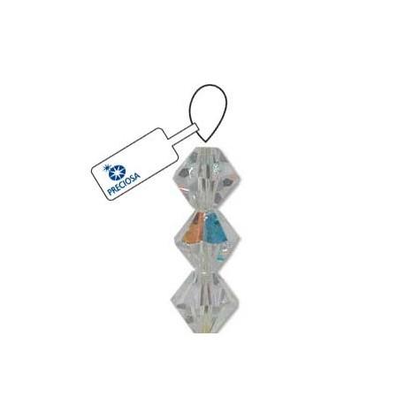 Preciosa 3mm Bicone Beads - Crystal AB
