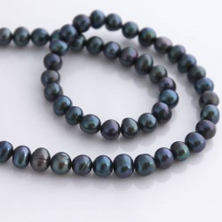 6-7mm Potato Shape Freshwater Pearls - Iris Black
