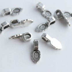 Antique Silver Tone Glue On Pendant Bails - 15mm