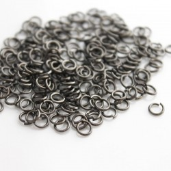 4mm Jump Rings - Gunmetal - Pack of 200