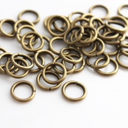 10mm Jump Rings - Bronze Tone - Pack of 50