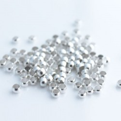 3.5mm Silver Plated Crimp Beads