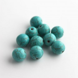 Howlite 10mm Gemstone Beads