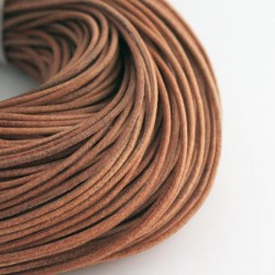 2mm Leather Cord - Natural