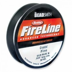 Fireline Braided Beading Thread 6lb - Crystal - 50yd