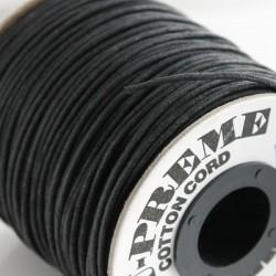 2mm Premium Waxed Cotton Cord - Black