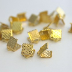 Ribbon Ends - Gold Plated