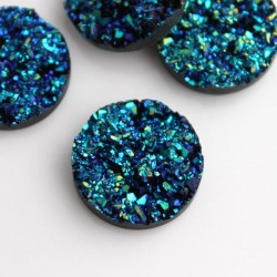Faux Drusy Resin Cabochons - 20mm