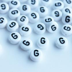 "7mm Acrylic Alphabet Beads - Letter ""G"""